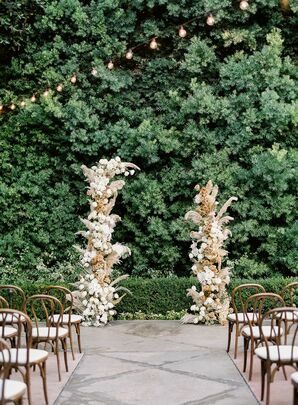 Boho Open-Top Altar Arch With Pampas Grass