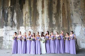 Long Lavender Amsale Bridesmaid Dresses