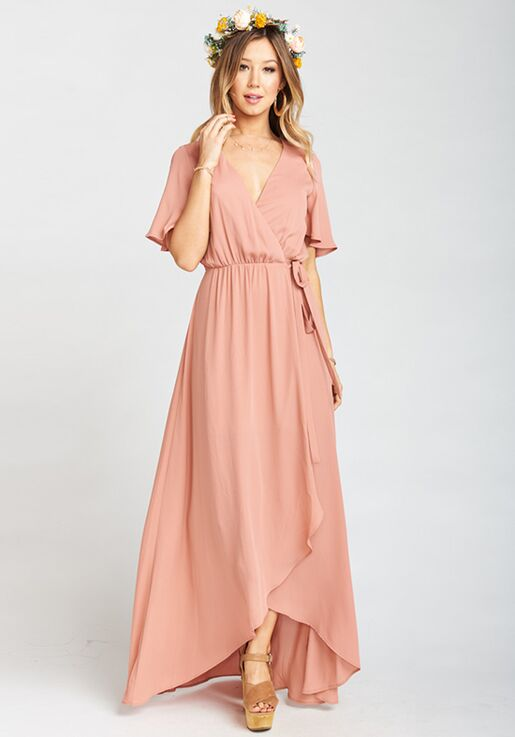 d867f7b6344 Show Me Your Mumu Sophia Wrap Dress - Rustic Mauve Crisp V-Neck Bridesmaid  Dress
