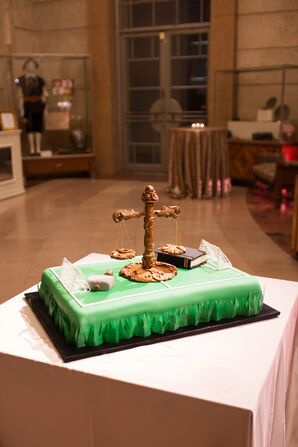 Soccer Field Groom's Cake with Edible Toppers