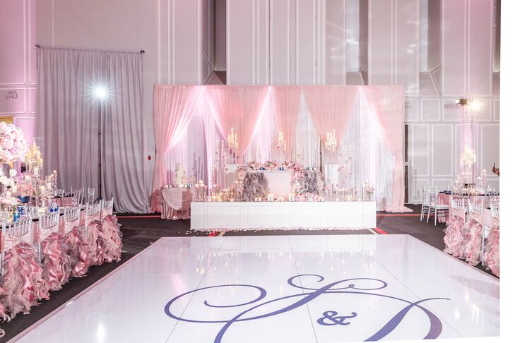 Custom Dance Floor and Pink Draping at The University of Maryland