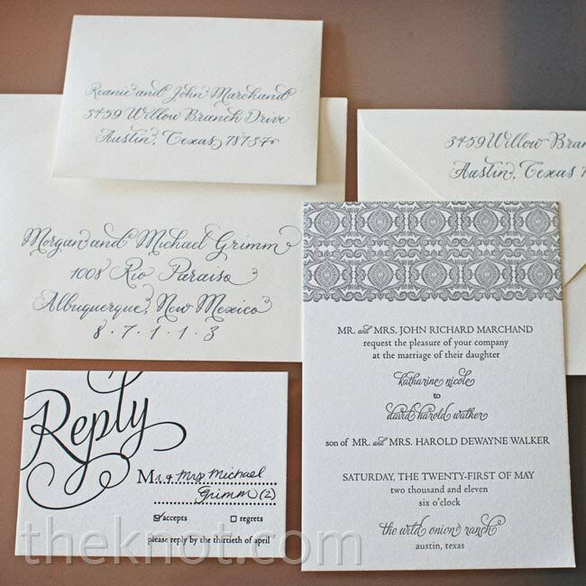 Formal Script Invitations