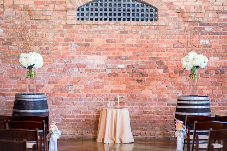Industrial-Chic Ceremony at Old Cigar Warehouse
