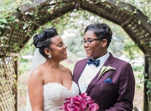 Alexis Hinton (31 and a graduate student at USC) and Tasha Easton (34 and an HR program manager) discovered inspiration in the woodsy surroundings of