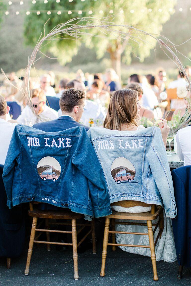 Wedding jean jackets
