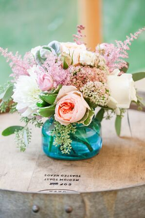 Locally Grown Garden Roses and Astilbes