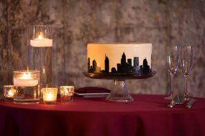 Custom Cake with Atlanta Skyline Design