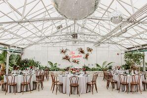 Fairmount Park Horticulture Center Wedding Reception with Disco Balls