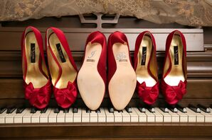 Vivid Red Shoes for the Bridal Party