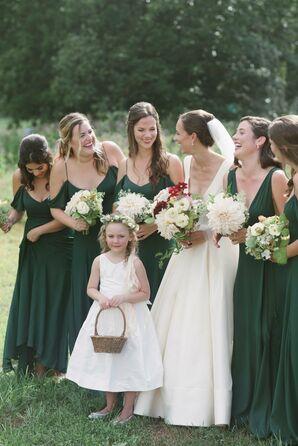 Romantic Emerald Bridesmaid Dresses