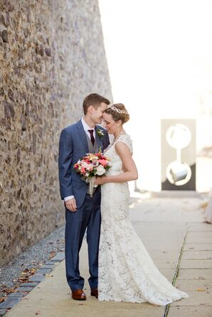 Bride and Groom at The James A. Michener Art Museum