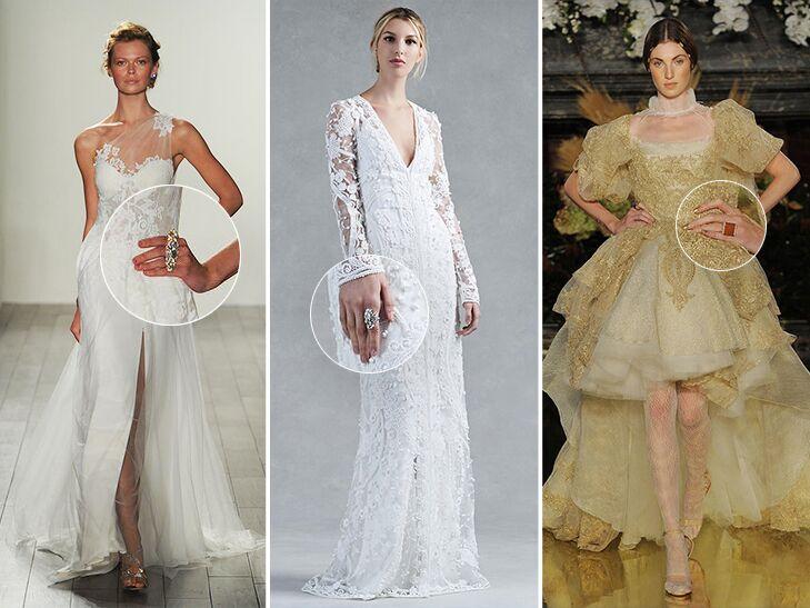 cocktail rings wedding dresses
