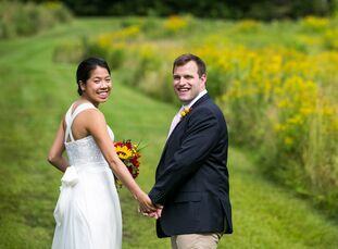 Hosting their wedding in the rolling hills of Vermont was a given for Pauline Yu (27 and a senior strategy consultant) and John Charles (29 and a vice