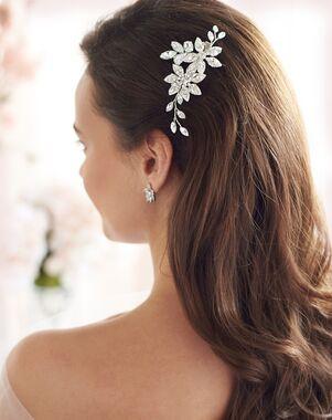 Dareth Colburn Bria Pearl & Crystal Wedding Clip (TC-2438) Gold, Silver Pins, Combs + Clip