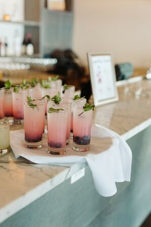 Modern Pink Signature Drinks at Cocktail Hour