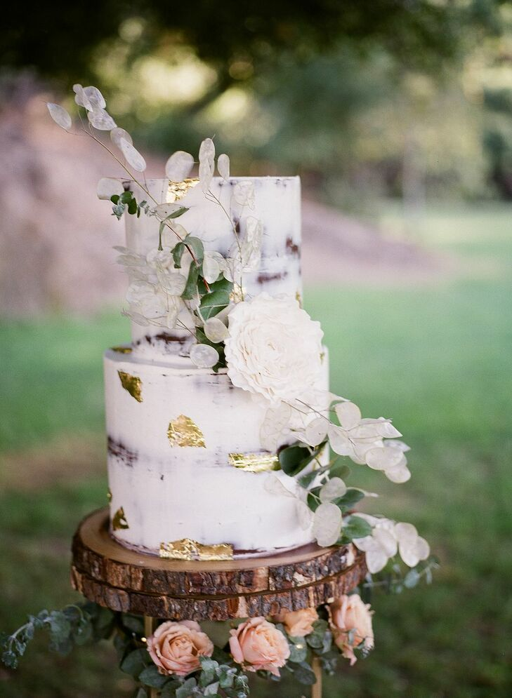Naked Wedding Cake at Saddlerock Ranch in Malibu, California