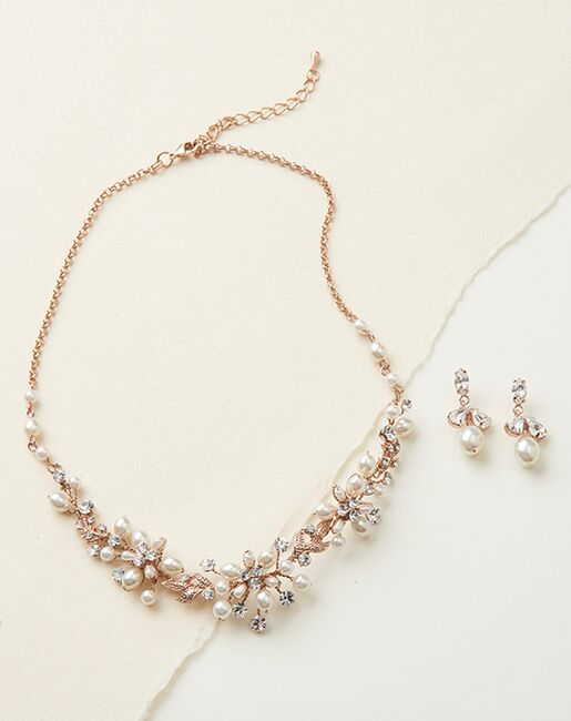 USABride Delicate Pearl Jewelry Set (JS-1637) Wedding Necklaces photo