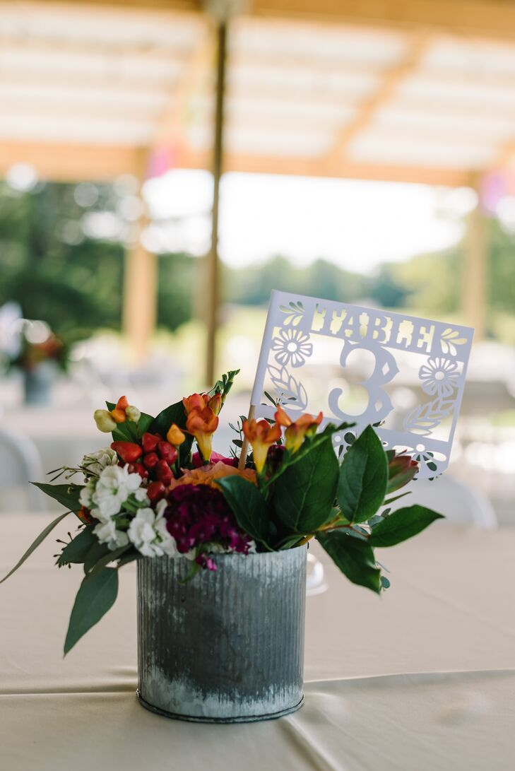 Papel-Picado-Style Table Numbers