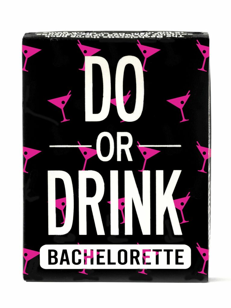 Fun bachelorette party card drinking game