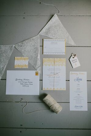 Yellow Accented Stationery