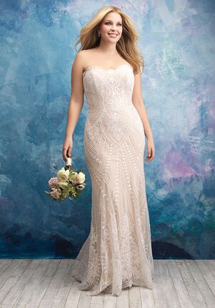 Allure Women W431 Sheath Wedding Dress