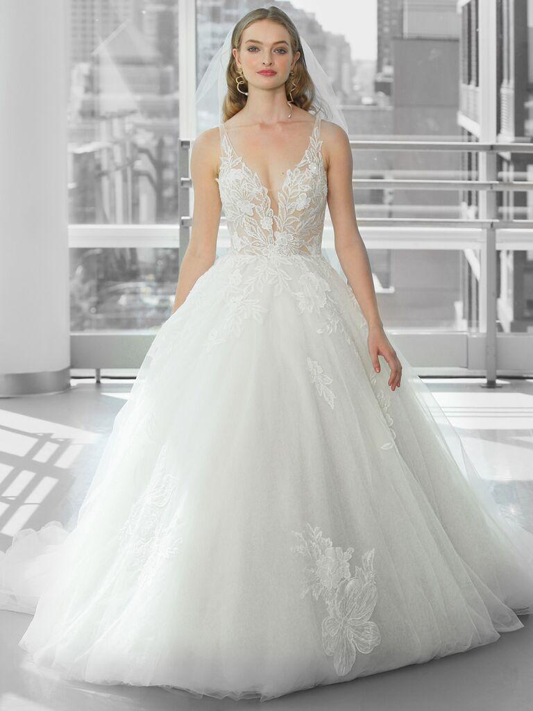Justin Alexander Signature Wedding Dresses v-neck tulle ball gown