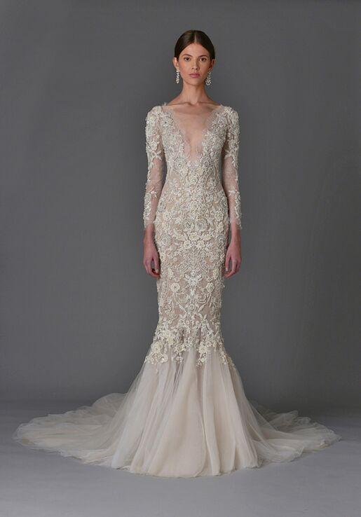 Marchesa Fuschia Wedding Dress - The Knot