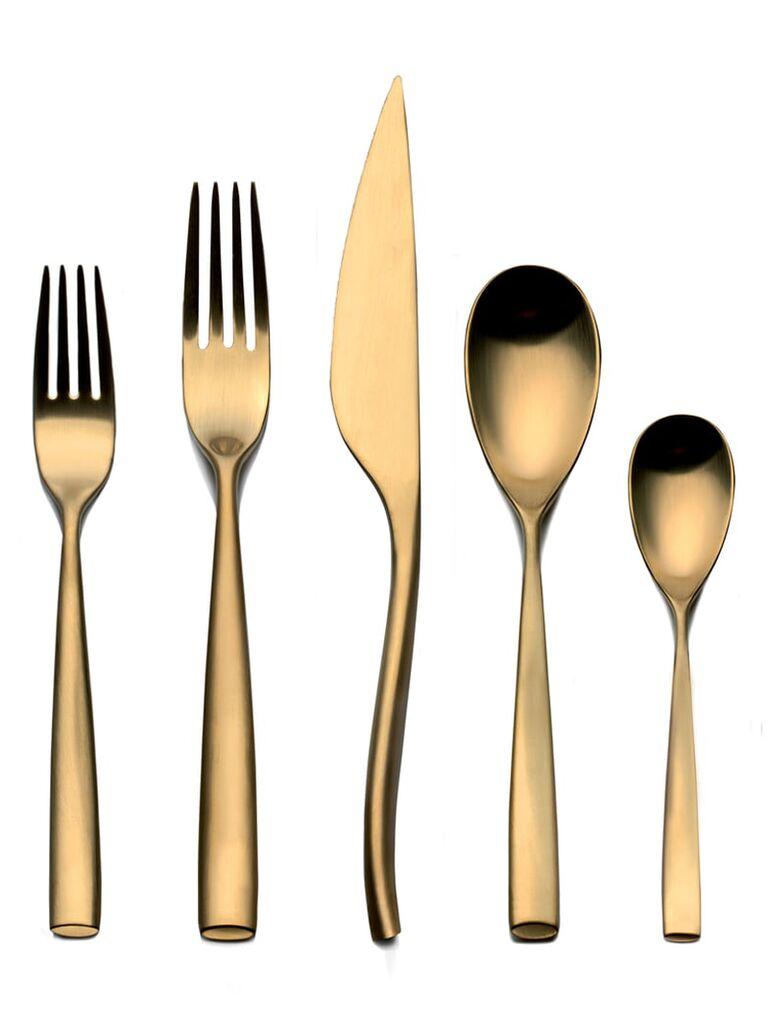 Gold flatware 5 year anniversary gift