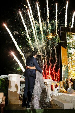 Fireworks Display at Villa Del Lago in Austin, Texas