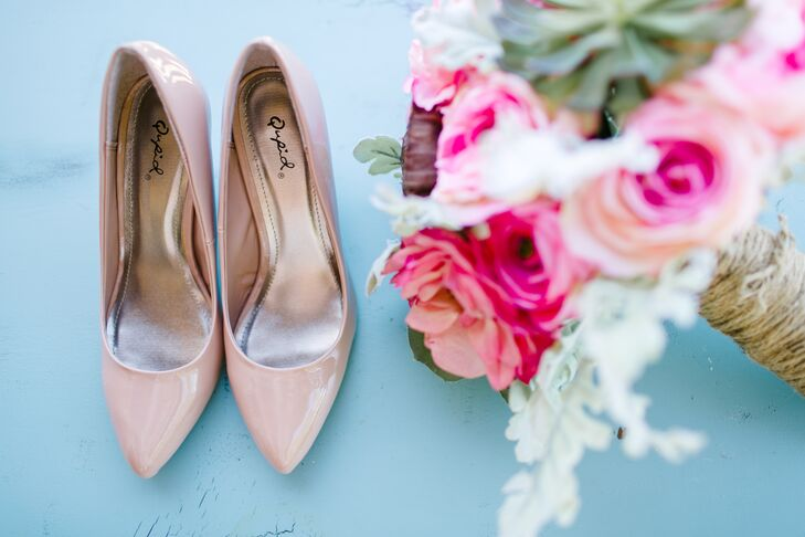 Classic Blush Pointed-Toe Pumps