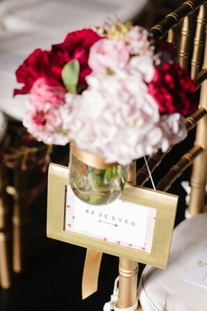 Gold-Framed Chair Signs