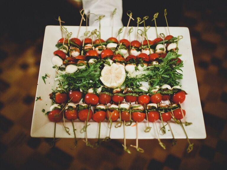 Vegetarian Wedding Menu Caprese Skewers