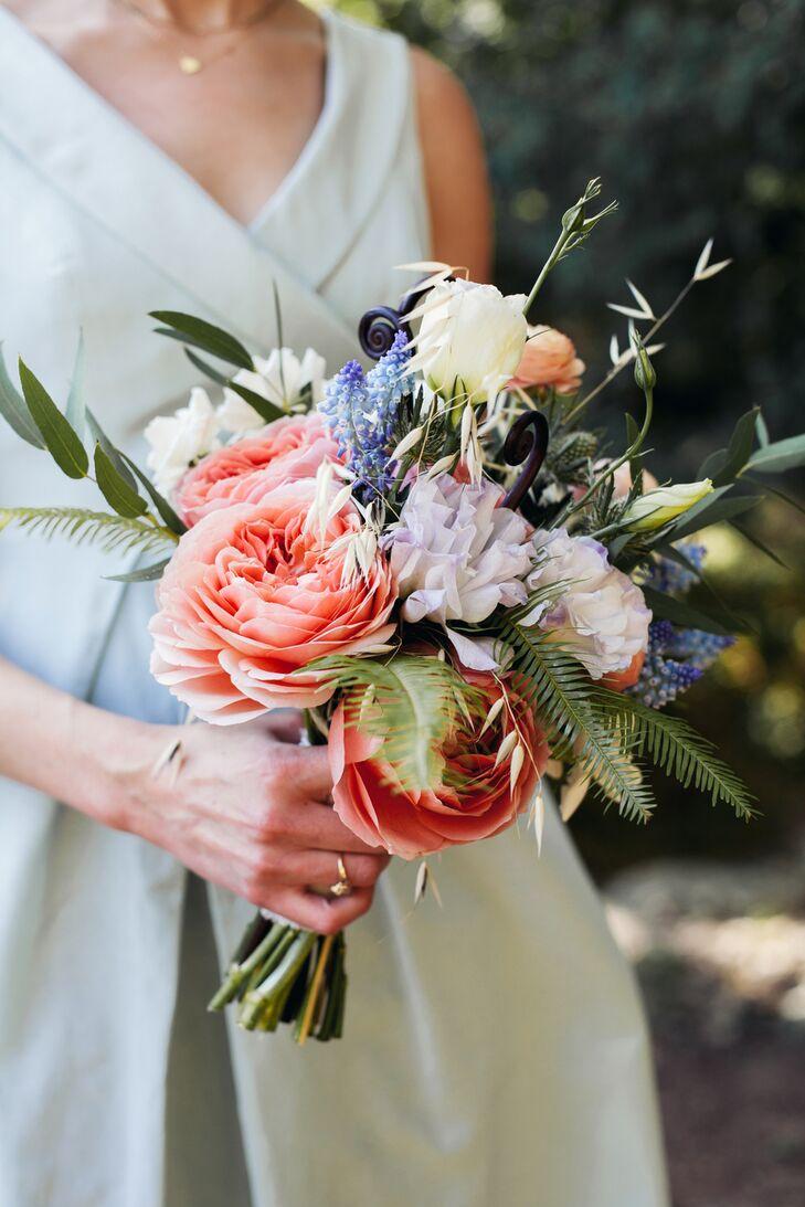 Colorful Rainbow Natural Bridal Bouquet