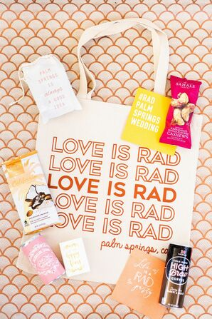 Funky Welcome Bag for Palm Springs Wedding