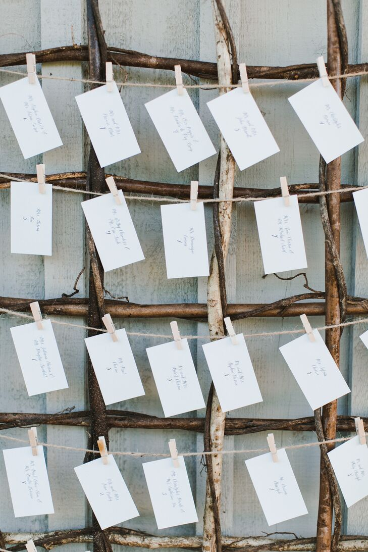 Simple Hand-Lettered Escort Cards