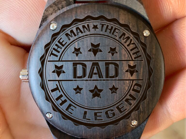 Custom wooden watch father of the groom gift