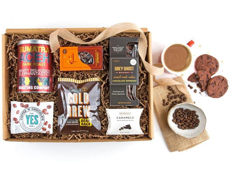 Bridal party coffee gift basket