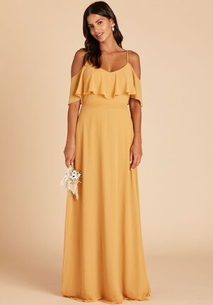 Birdy Grey Jane Convertible Dress in Marigold V-Neck Bridesmaid Dress