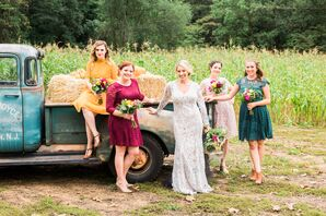 Mismatched Lace Bridesmaid Dresses