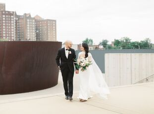 "As a celebration on their shared love for art, Fay and Nick exchanged vows at The St. Louis Contemporary Art Museum in Missouri. Fay and Nick, ""knew w"