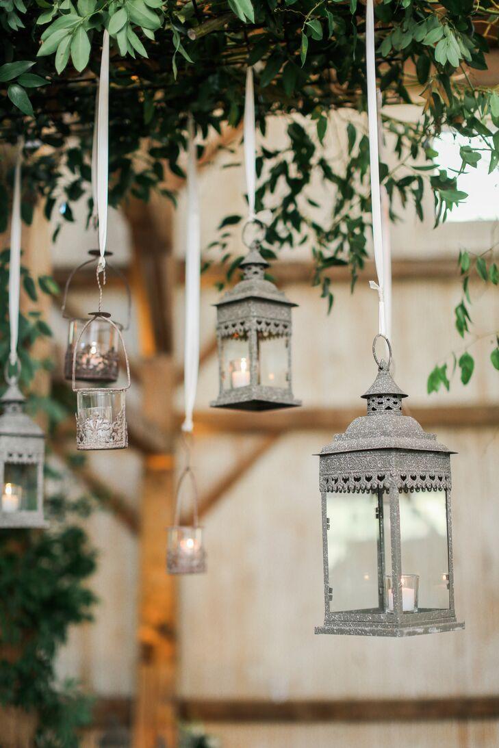 Suspended Silver Lanterns