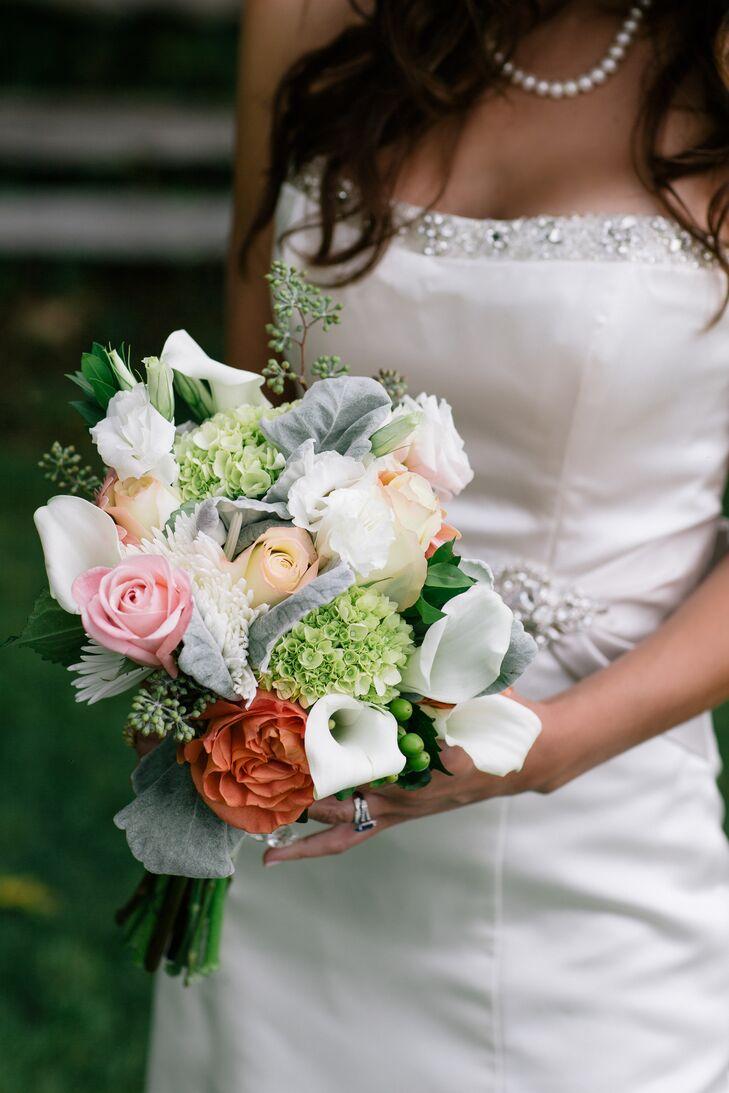 Calla Lily, Rose and Hydrangea Bouquet