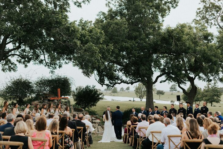 Rustic Outdoor Ceremony at a Family Farm in Brenham, Texas