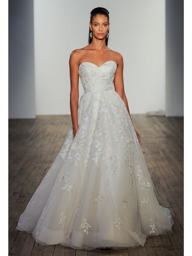 Lazaro wedding gown ivory