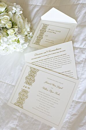 Elegant Gold and Ivory invitation Suite