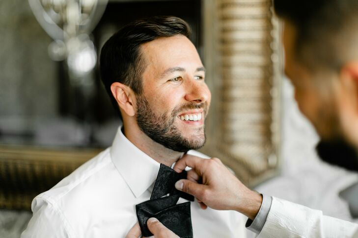 Groom Getting Ready for Wedding in Springfield, Missouri