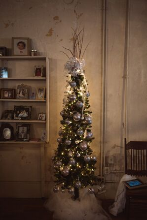 Petite Christmas Tree Reception Decor
