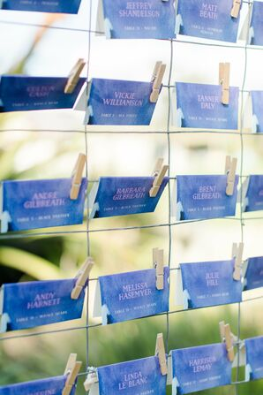 Blue Watercolor Escort Cards