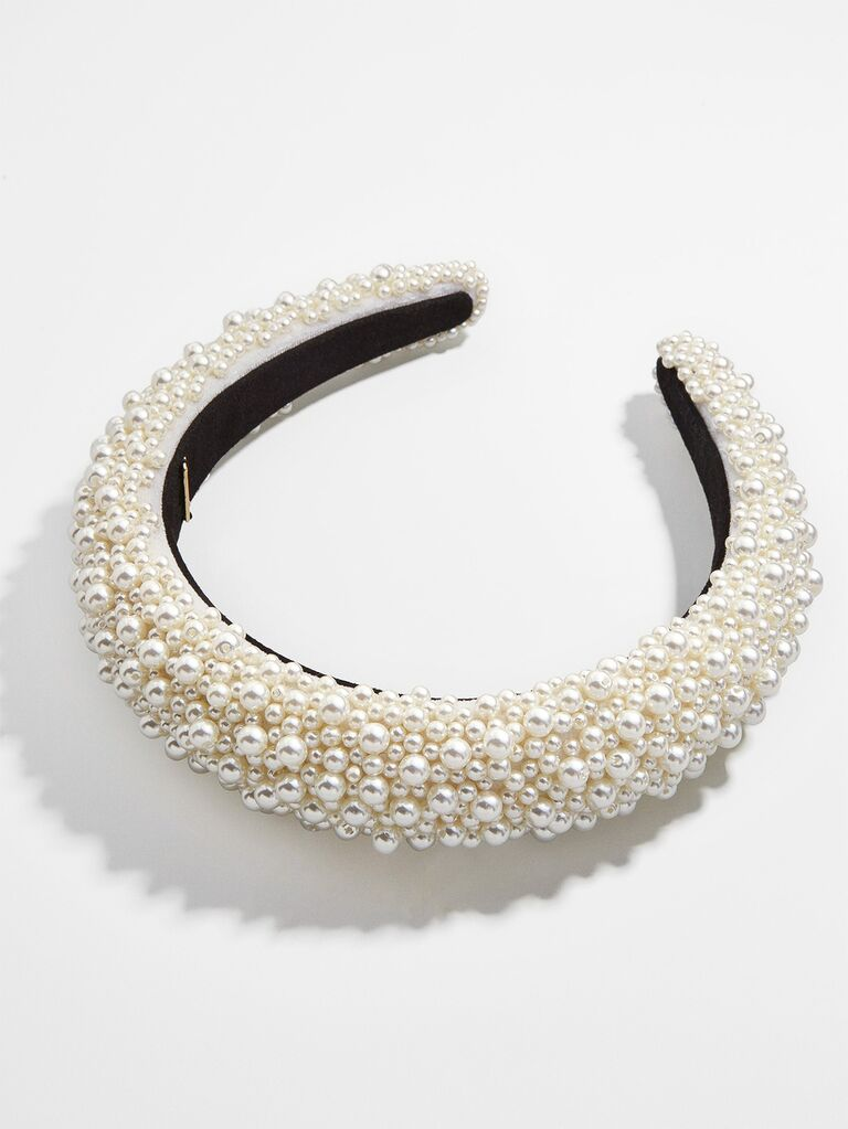 Ivory pearl padded headband