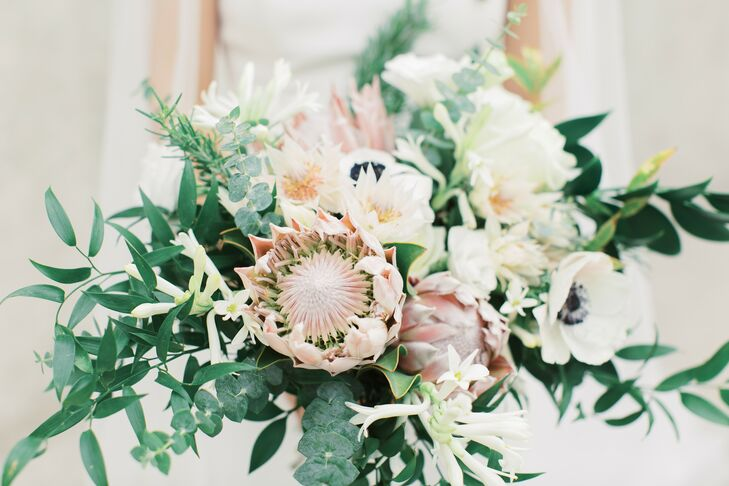Protea Bouquet for St. Louis, Missouri Wedding